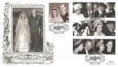 2007 Diamond Wedding, Benham 500 Gold Official FDC, Buckingham Palace Road London SW1 H/S