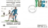 1968 British Anniversaries, Wessex European Cup Final Manchester United v Benfica FDC, 4d TUC Stamp only Harrow & Wembley FDI