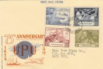 1949 75th Anniversary UPU Swaziland FDC, Mbabane Swaziland cds