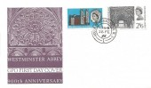 1966 Westminster Abbey, GPO FDC, House of Commons SW1 cds