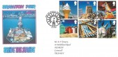 2007 Beside the Seaside, A F Trenery Brighton Pier Privately Produced FDC, First Day of Issue Blackpool H/S