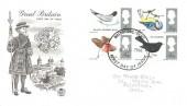1966 British Birds, Monochrome Stuart Beefeater FDC, Maidstone Kent FDI
