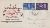 1946 Victory, US Illustrated FDC, Tern Hill RAF PO Market Drayton Salop cds