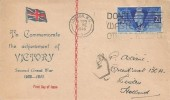 1946 Victory, Illustrated FDC, 2½d Stamp only, Don't Waste Bread Others Need it London WC Slogan