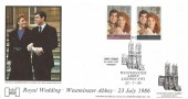 1986 Royal Wedding, Havering Official FDC, Westminster Abbey London SW1 H/S