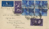 1946 Victory, K. Whitehouse (King's Norton) Ltd Envelope FDC, to Holland, King's Norton Birmingham Cancel + D.M. Dumb Circular Cancellation