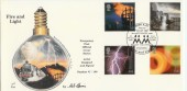 2000 Fire & Light 4d Post Official FDC, Beacons Great Yarmouth Norfolk H/S, Signed by Mel Harris who designed the cover