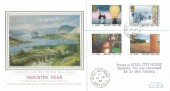 1986 Industry Year, Registered Presentation Philatelic Services FDC, Steel City House Sheffield cds
