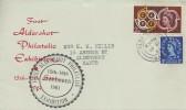 1961 CEPT, First Aldershot Philatelic Exhibition FDC, 2d Stamp only, Aldershot Hants. cds