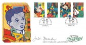 1989 Toys and Games, Covercraft Official FDC, NSPCC Putting Children First London EC1, Signed by Dame Judi Dench