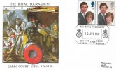 1981 Royal Wedding,  British Forces Postal Service Official FDC, The Royal Tournament Bristish Forces 1805 Forces Service H/S
