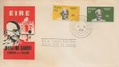 1969 Ireland Gandhi, Illustrated FDC, Baileatha Cliath 70 cds