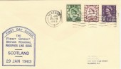 1963 First Scottish Regional Phosphor issue FDC