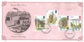 1989 Industrial Archaeology, Bradbury Victorian Print No.4 FDC, Collect British Stamps Bradford Mills + Bradford FDI