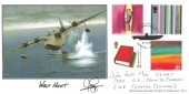1999 Artists' Tale, British Heritage Collectables Official Wolf Hunt FDC, 60th Anniversary of Allied Attacks on German U-Boats Whitehall London H/S. Signed by John Bell F/Lt
