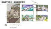 1968 British Bridges, Wessex FDC, First Day of Issue Bridge Canterbury Kent H/S
