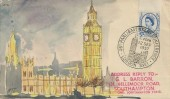 1957 Parliamentary Conference, Amanda J Skinner Hand Painted FDC, 46th Parliamentary Conference London SW1 H/S