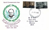 1965 Sir Winston Churchill. Rembrandt FDC, Bladon Oxford FDI