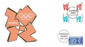 2012 Olympic Emblems, Buckingham Covers Official FDC, Olympic & Paralympics Games London E20 H/S