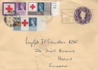 1963 Red Cross Centenary, 3d Postal Stationery FDC, First Day of Issue London WC Slogan + cds
