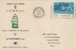 1963 Commonwealth Cable (Compac), G L Frenkel FDC First Day of Issue Philatelic Bureau London EC1 Slogan