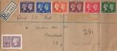 1940 Postage Stamp Centenary, Registered Plain FDC, Delacourt Road Blackheath SE3 cds + Stamp Centenary Exhibition London Label