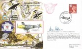 1990 50th Anniversary of the Battle of Britain Commemorative Cover, 50th Anniversary the First Attack on Berlin BFPS2252 H/S, Signed by Wing Commander H.M. Stephen DSO DFC
