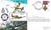 1990 50th Anniversary of the Battle of Britain Commemorative Cover, 50th Anniversary Battle of Britain Imperial War Museum Duxford Air Day Cambridge H/S, Signed by Group Captain D E Gillam DSO DFC AFC