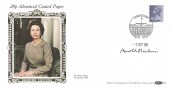 1986 28p Advanced Coated Paper, Benham D50 FDC, London SW1 H/S, Signed by Stamp Designer Arnold Machin