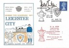 1972 Leicester City Division Two Champions 1971 Dawn Football Cover, Leicester H/S, Signed by Peter Shilton