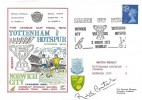 1973 The League Cup Final Tottenham Hotspur v Norwich City Dawn Football Cover, League Cup Final Wembley H/S, Signed by Ralph Coates