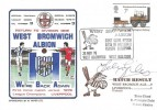 1976 West Bromwich Albion Return to Division One Dawn Football Cover, West Bromwich Albion V Liverpool H/S, Signed by Johnny Giles