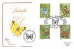1981 Butterflies, Cotswold FDC, British Butterflies Exhibition Leicestershire Museums Service Leicester H/S + New Walk Museum Cachet
