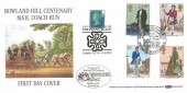 1979 Sir Rowland Hill, Benham Official BOCS13 FDC, Mail Coach Run Birmingham H/S, Double Dated 6th May 2015 1st Class Two Penny Blue 175th Anniversary The Penny Black London EC1A H/S