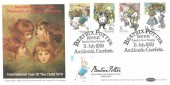 1979 Year of the Child, Benham BOCS(SP)1 FDC, Beatrix Potter Near Sawrey Ambleside Cumbria H/S, Double Dated 28th July 2016 1st Class Peter Rabbit, Beatrix Potter Bolton Gardens South Kensington H/S