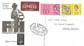1963 Freedom from Hunger, Express Delivery Illustrated FDC, Tenth Anniversary Stampex 1963 London SW1 H/S