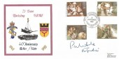 1985 Arthurian Legend, REME 23 Base Workshop Forces Official FDC, 40th Anniversary  23 Base Wksp REME British Forces 2340 Postal Service H/S, Signed