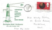 1967 British Discoveries, 21st Convention of the Canadian Philatelic Society of Great Britain FDC, 4d radar stamp only. Maidstone Kent Cancel