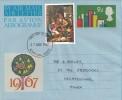 1967 Christmas 9d Air Letter, 3p Christmas stamp, Romford Essex FDI
