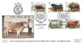 1984 British Cattle, Havering No.2 Official FDC, Earl's Court Home of the Royal Smithfield Show London SW5 H/S