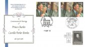 2005 Royal Wedding,Buckingham covers Double dated Issue date & Wedding Date, Royal Wedding Celebrations Windsor & Royal Mail Windsor H/S + Vatican Stamp Cancelled The Funeral of Pope John Paul Vatican Rome H/S