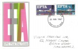 1967 European Free Trade Area (EFTA), GPO FDC, Forged 33mm Diameter Manchester FDI