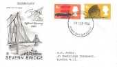 1966 British Technology, Stuart Opening of the Severn Bridge FDC, 4d & 6d Stamps only, London EC FDI