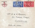 1951 Festival of Britain, Original Watermarked Logo Festival of Britain Envelope FDC, Acrefair Wrexham cds