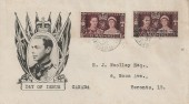 1937 King George VI Coronation Tangier & French Morocco Agencies, Illustrated FDC, Casablanca cds