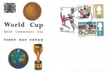 1966 World Cup Football Connoisseur  FDC (Ordinary) Wembley Middx. FDI