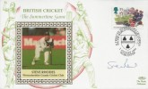 1994 Summertime, Benham British Cricket FDC, 35p Cricket stamp Only, A Tribute to the Glory of Lord's from Worcestershire CCC Worcester H/S, Signed by Steve Rhodes