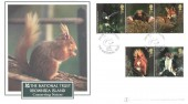 2004 Woodland Animals, Buckingham Red Squirrel Official FDC, The National Trust Brownsea Sea Island Poole Dorset H/S in Silver