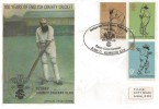 1973 County Cricket Centenary, TCCB Official FDC, Headquarters Surrey County Cricket Club The Oval Kennington SE11 H/S