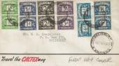 1951 ½d, 1d, 2d, 3d, 4d, 1s Set of 6 Postage Dues in Pairs Overprinted Southern Rhodesia, Display FDC, Salisbury Rhodesia cds